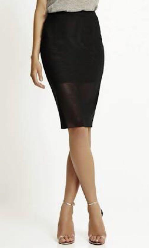 Bec and Bridge Mesh Pencil Skirt