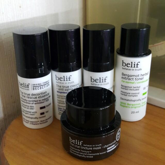 Belif 旅行五件組