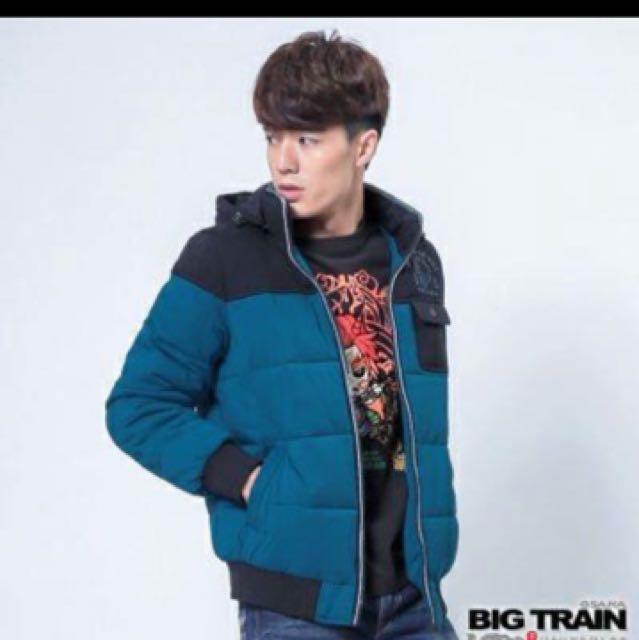 全新日本BIG TRAIN男科技羽絲絨球外套,M號,原價$4880,肩*胸*長:44,54,68