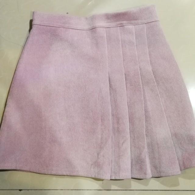 BKK curdoroy pleated A-line skirt