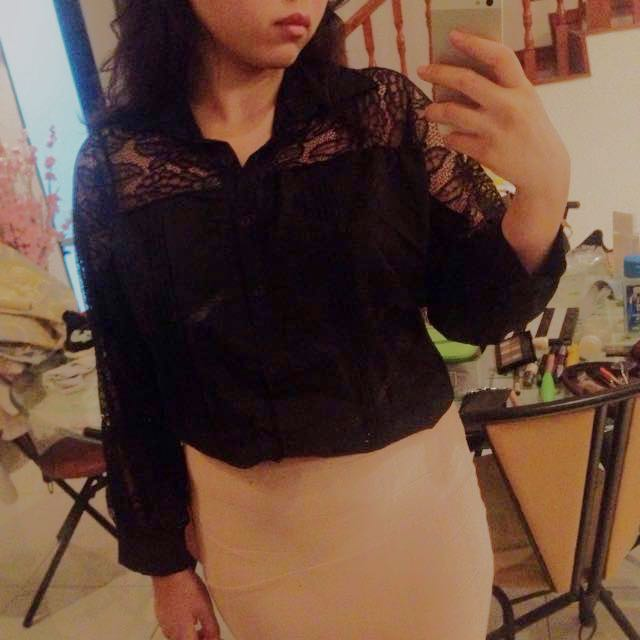 ❤️Black Lace Top BNWT