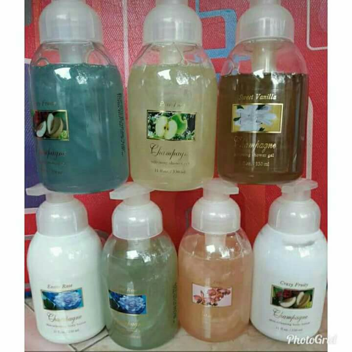 Body lotion champagne