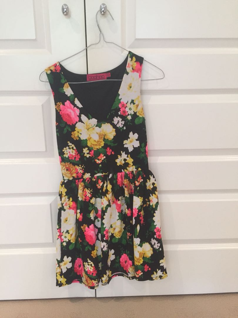 Boohoo Flower Dress