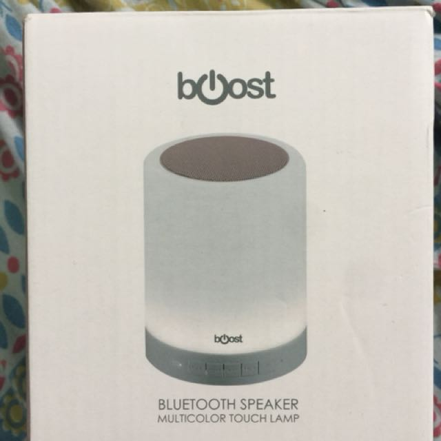 BOOST BLUETOOTH SPEAKER MULTICOLOR TOUCH LAMP