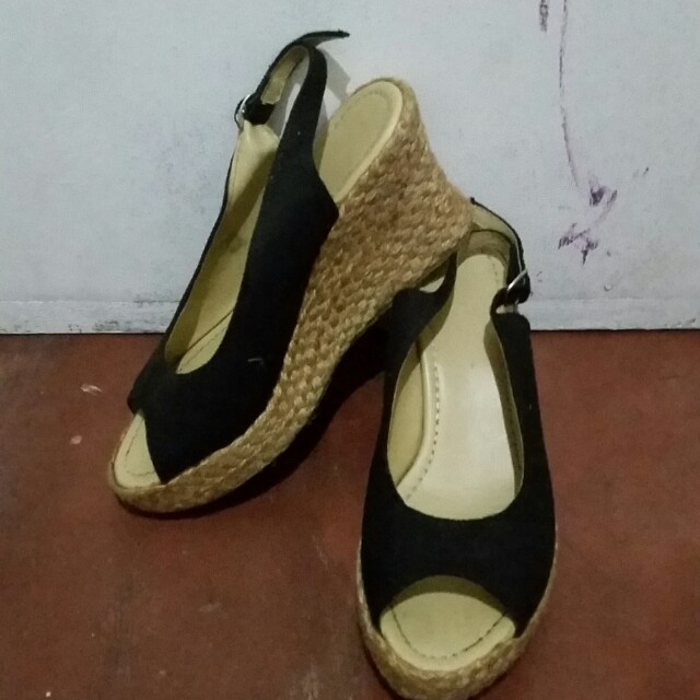 Brown and Black Wedge