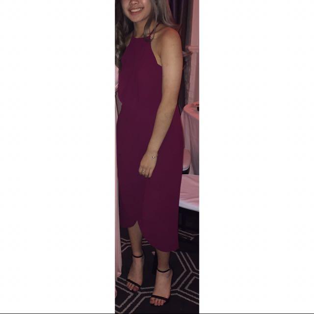 burgundy 7/8 - maxi dress