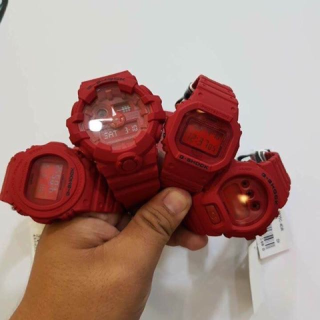 Casio and Gshock red