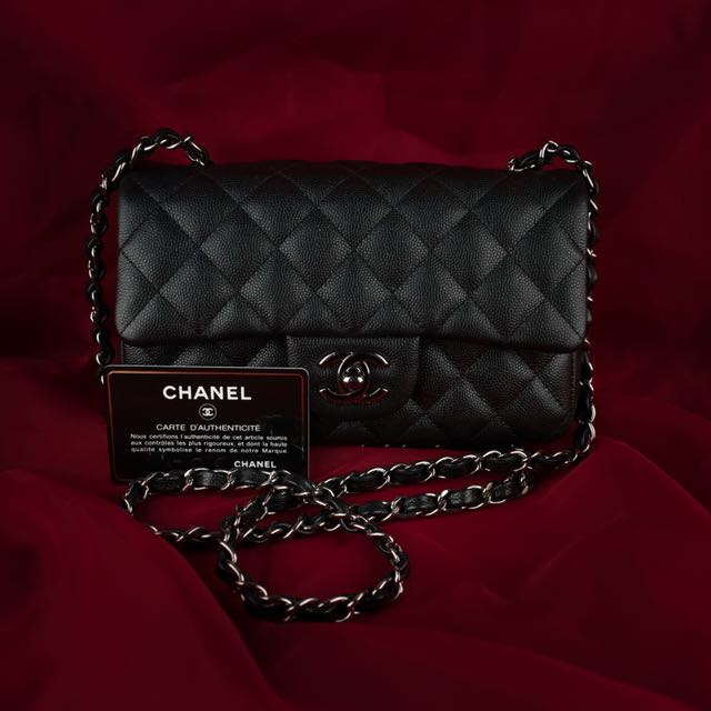 chanel 18 C cruise black mini with shiny RHW