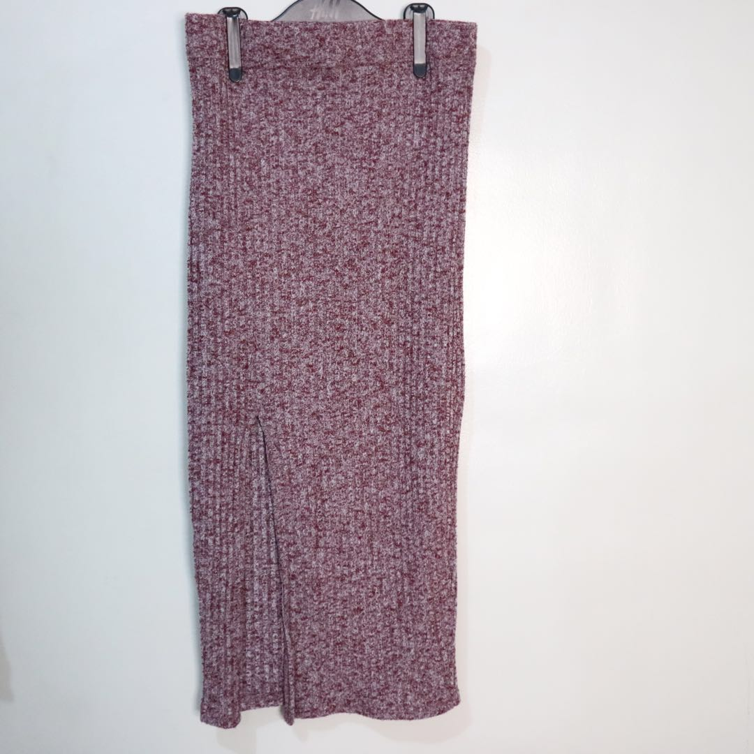 Cotton On Knit Ribbed Skirt with Slit