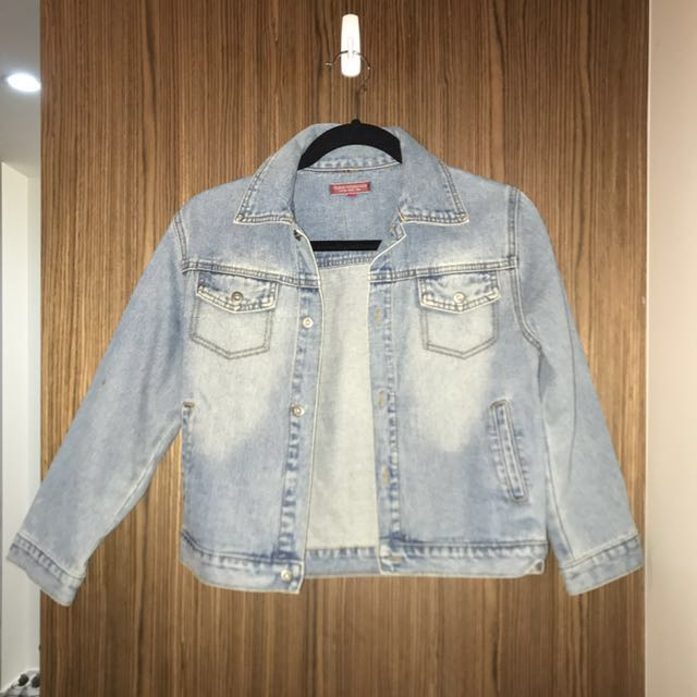 Denim Cropped Jacket