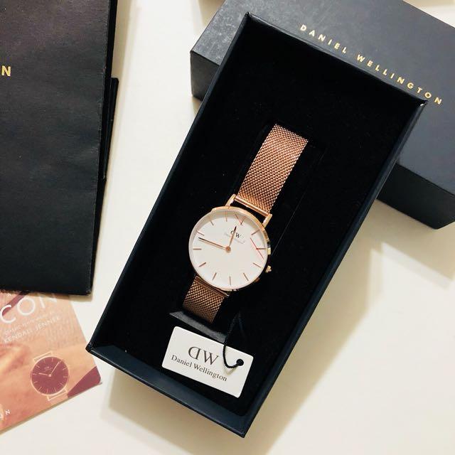 DW Daniel Wellington玫瑰金米蘭編織錶帶 32mm