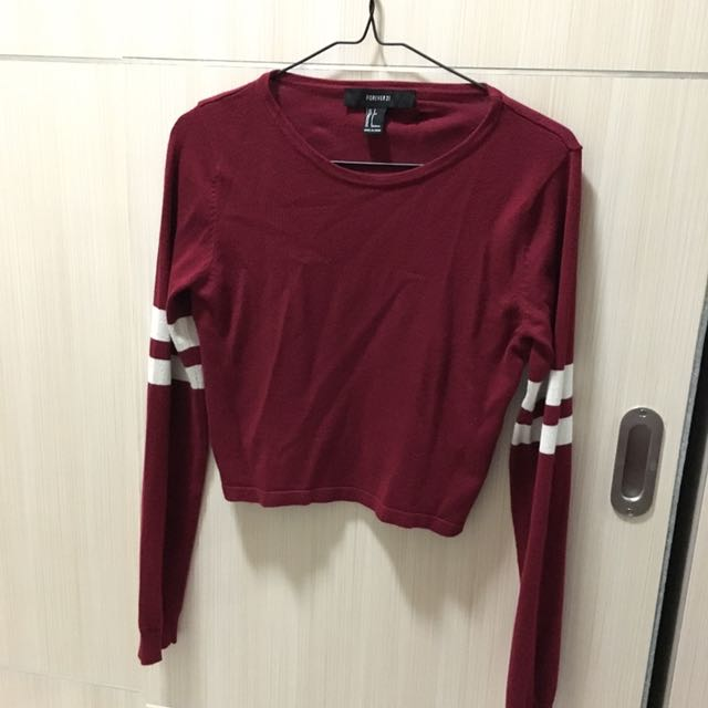 F21 long sleeve crop