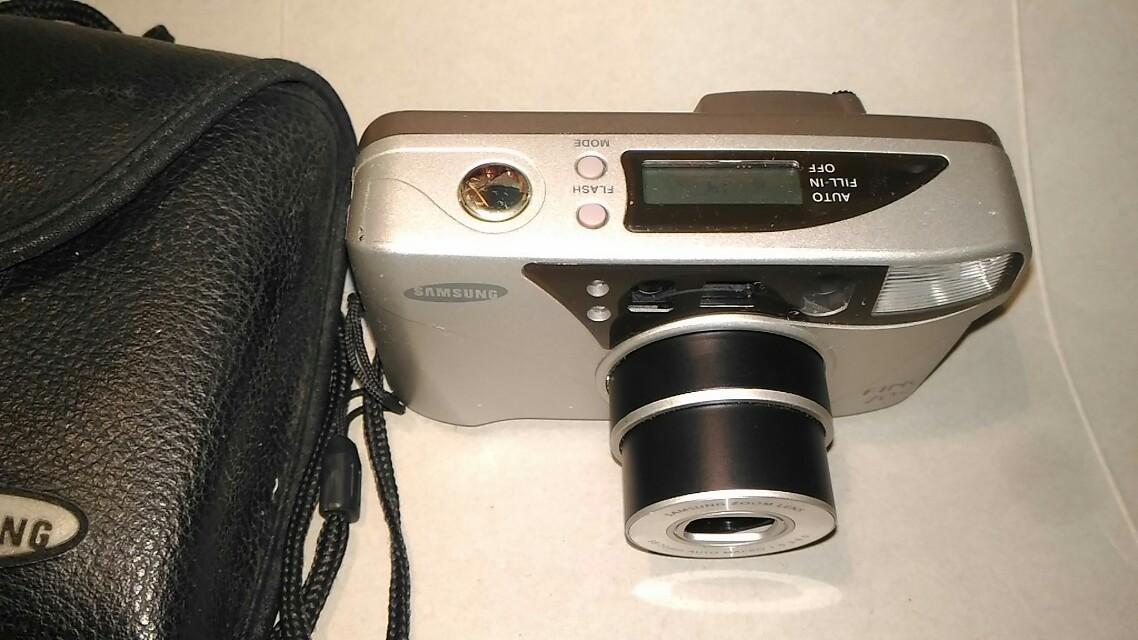 三星底片相機,底片相機,三星相機,古董相機,相機,攝影機~三星底片相機(拍攝功能正常,型號FINO70S)