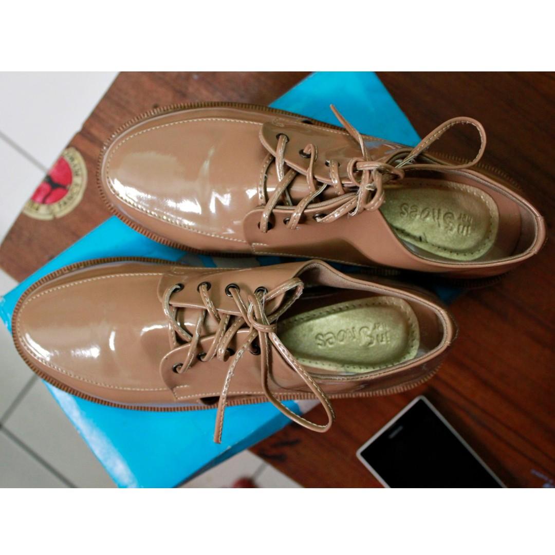 Flatshoes Nude Coklat Size 36