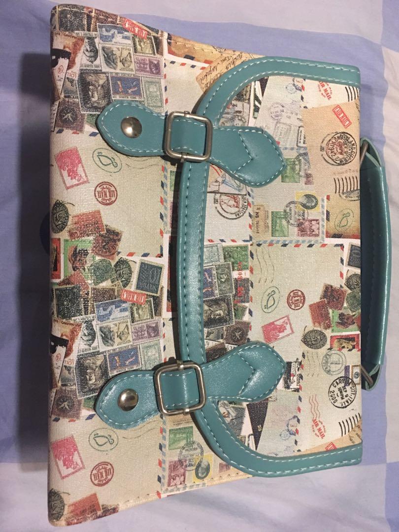 FREE POST (WM) box type long strap shoulder bag