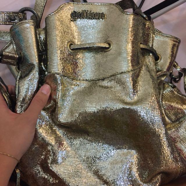 Galliano Bucket Bag in gold