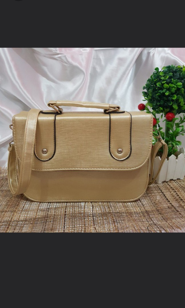 Gold satchel