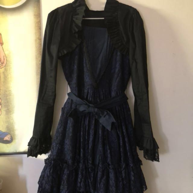 Gothic/Hime Lolita Formal dress, SIZE M/L + Bolero