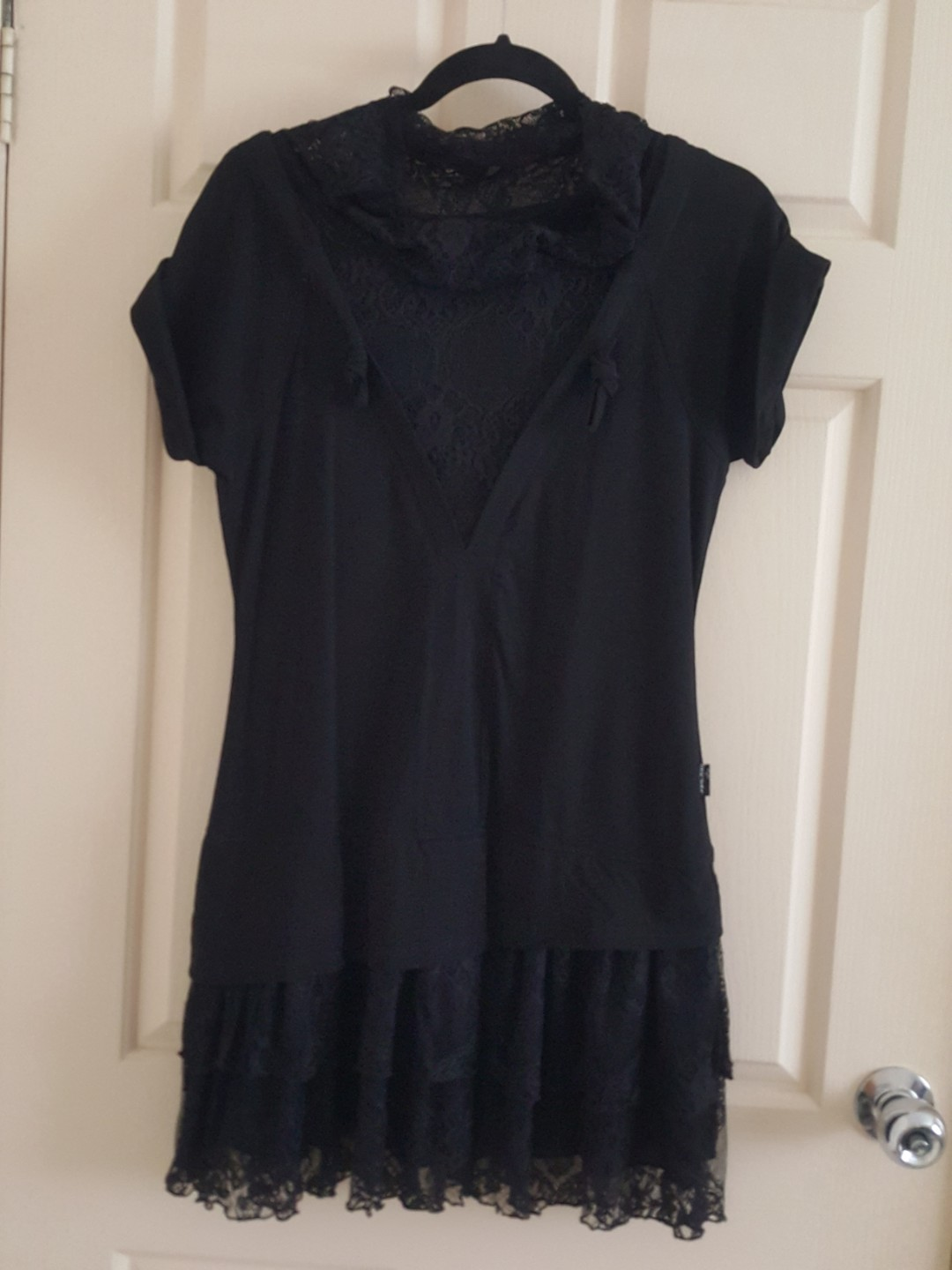 Goth-styled lace dress