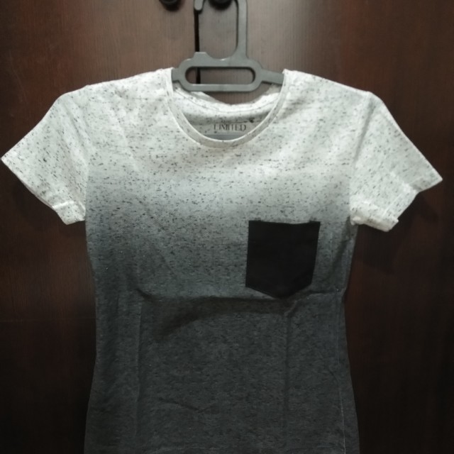 grey gradiation t shirt NEW