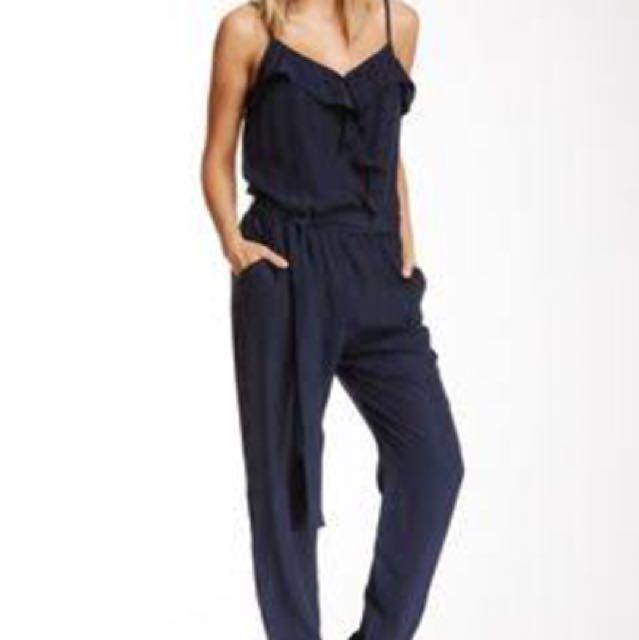 H&M Black Ruffled Jumpsuit