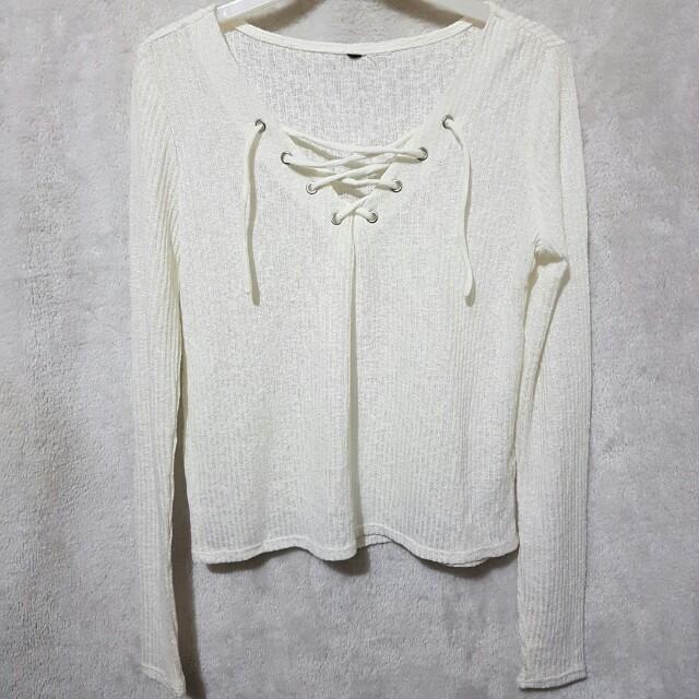 H&m crisscross knit top