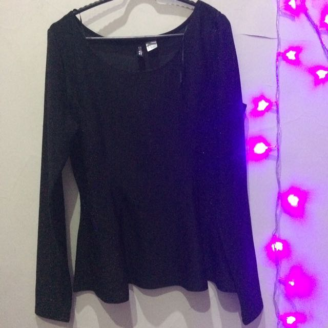 H&M glitter blouse stretch