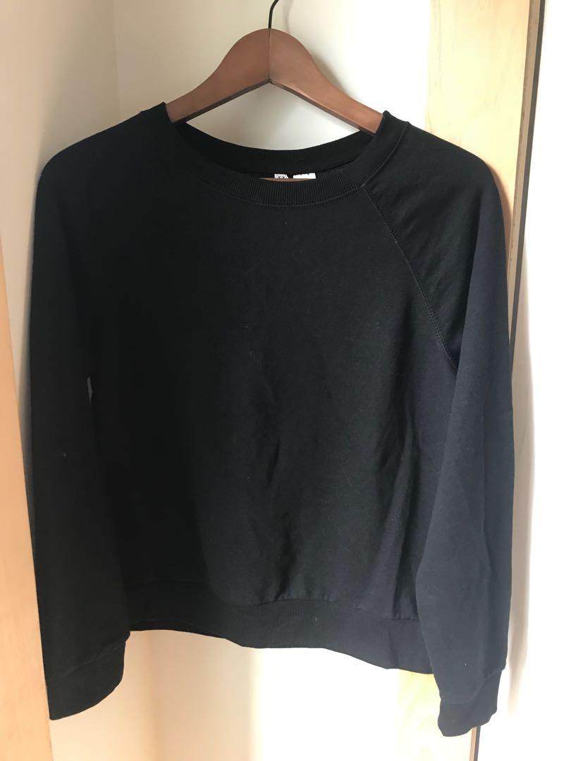 H&M Lightweight Sweatshirt in black