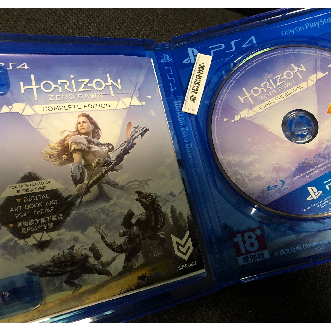 Horizon Zero Dawn Complete Edition Comes With The Frozen Wilds Sony Playstation 4 Reg 3 Expansion Pack Toys Games Video Gaming On Carousell