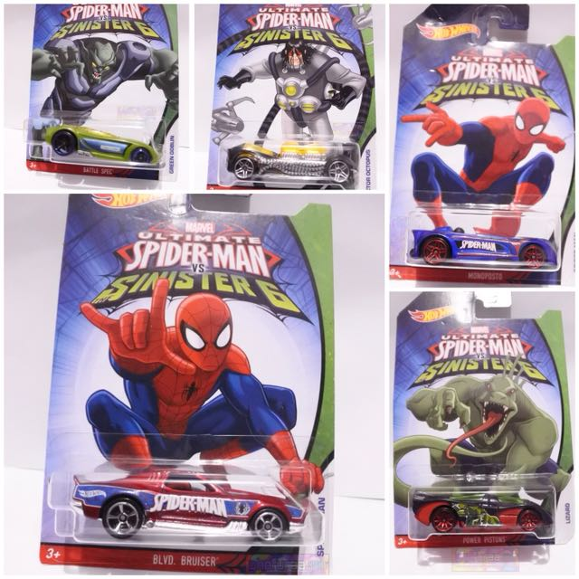 Hotwheels Diecast mobil Spiderman Movie series - hot wheels film