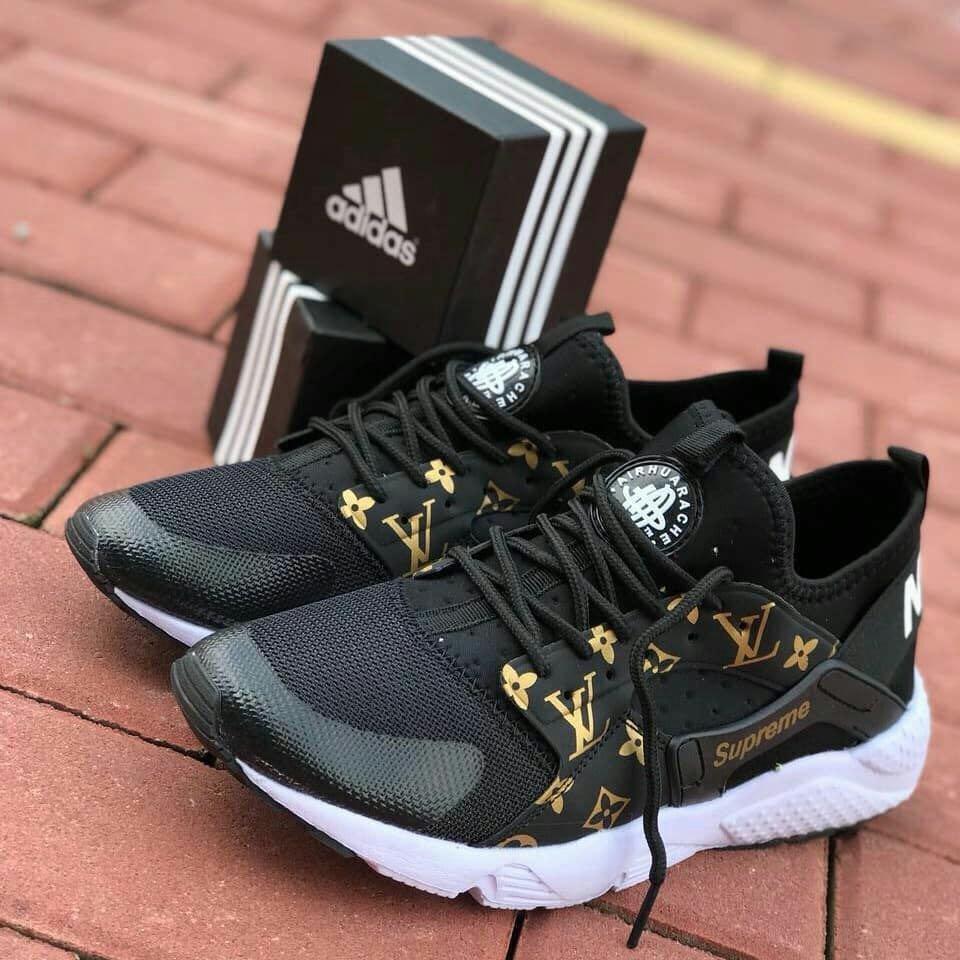 Huarache LV Supreme Black White Gold