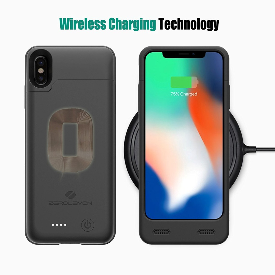 In Stock Iphone X Battery Case With Qi Wireless Charging Supported Juicer Zerolemon 4000mah Slim Extended Rechargeable For
