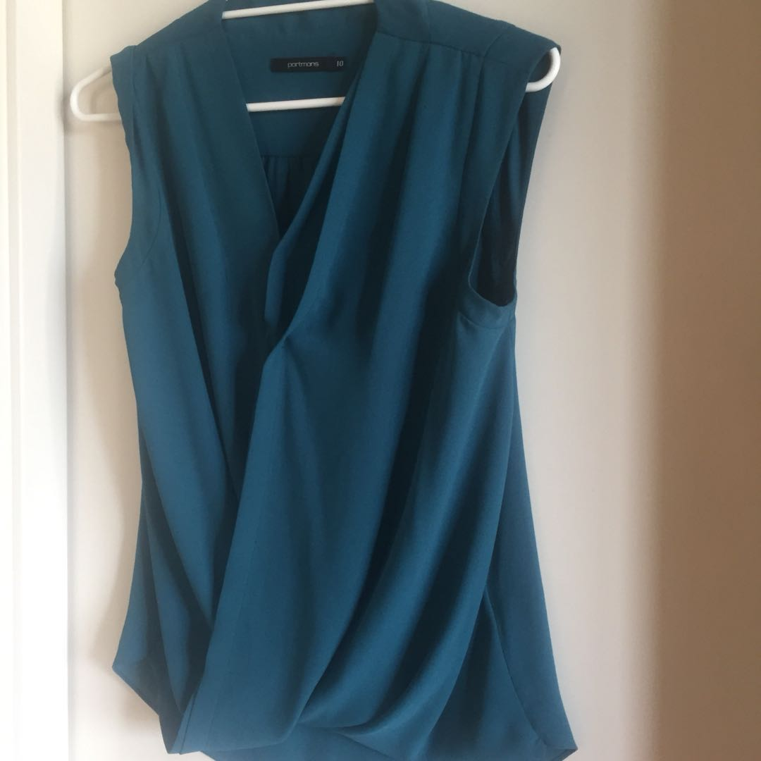 Jade green Portsman Top Size 10