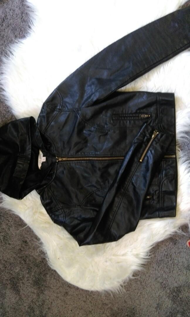 jayjays hooded leather jacket