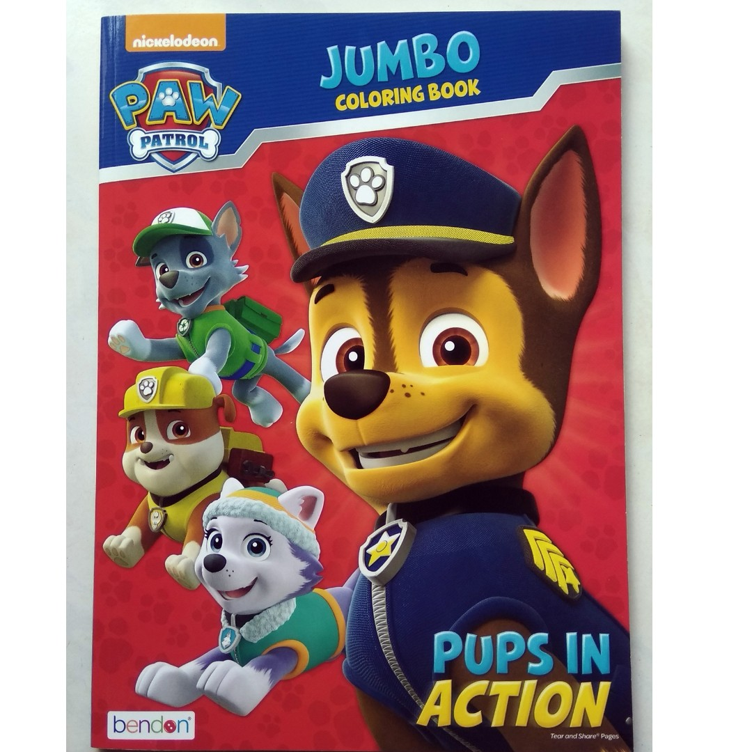 Jumbo Coloring Book Paw Patrol Pups In Action On Carousell