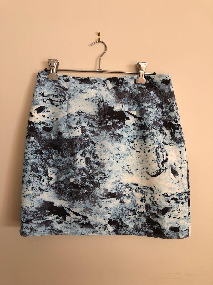 Keepsake Blue Patterned Skirt