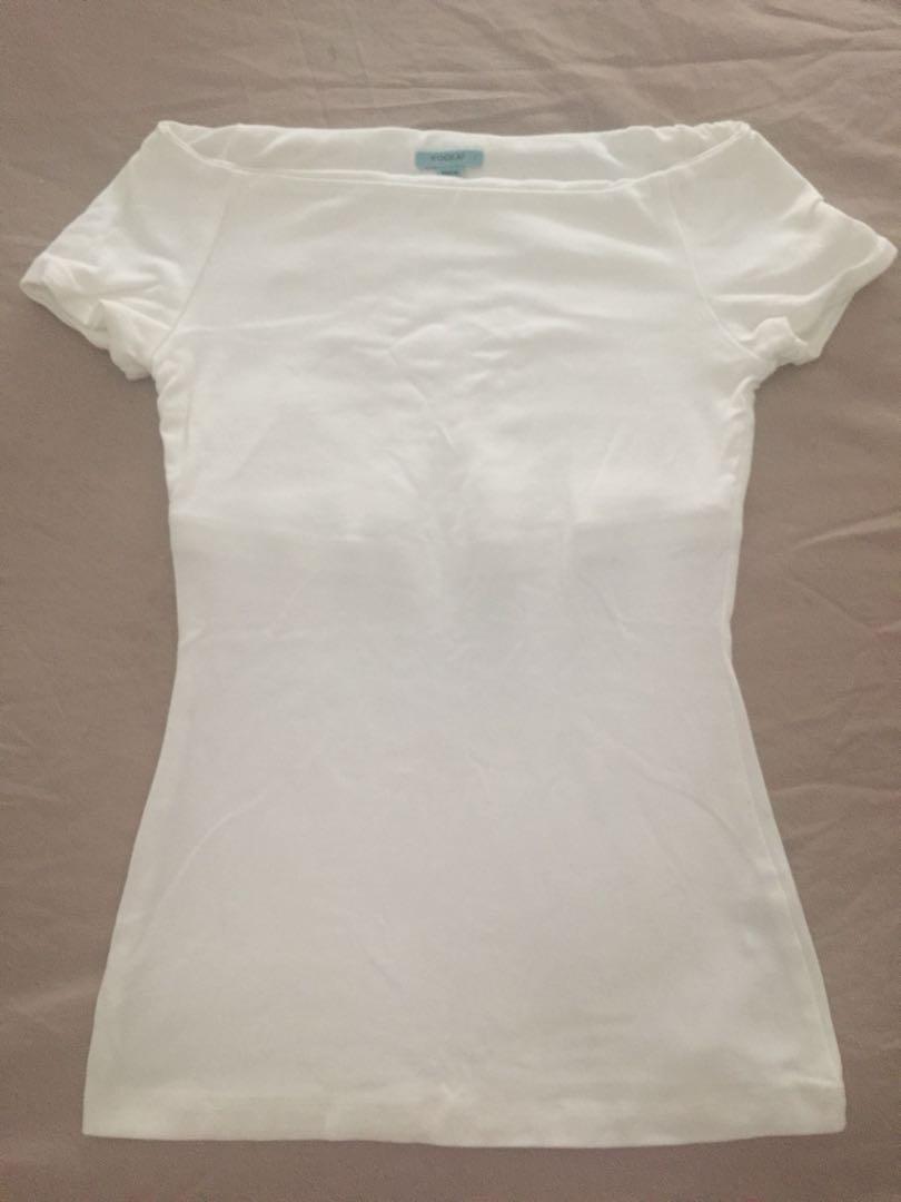 Kookai White Slight Off Shoulder