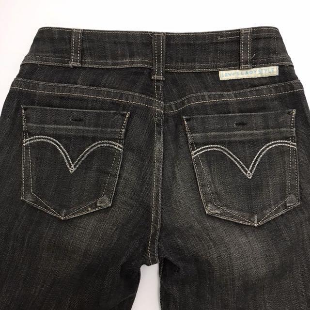 Levi's W26 日本製黑灰刷色牛仔褲