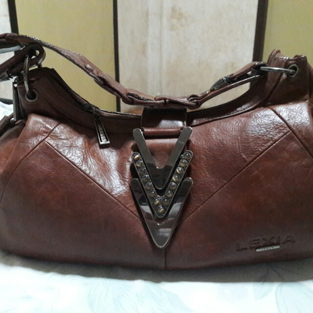 LEXIA ITALY Genuine Leather Hobo Bag