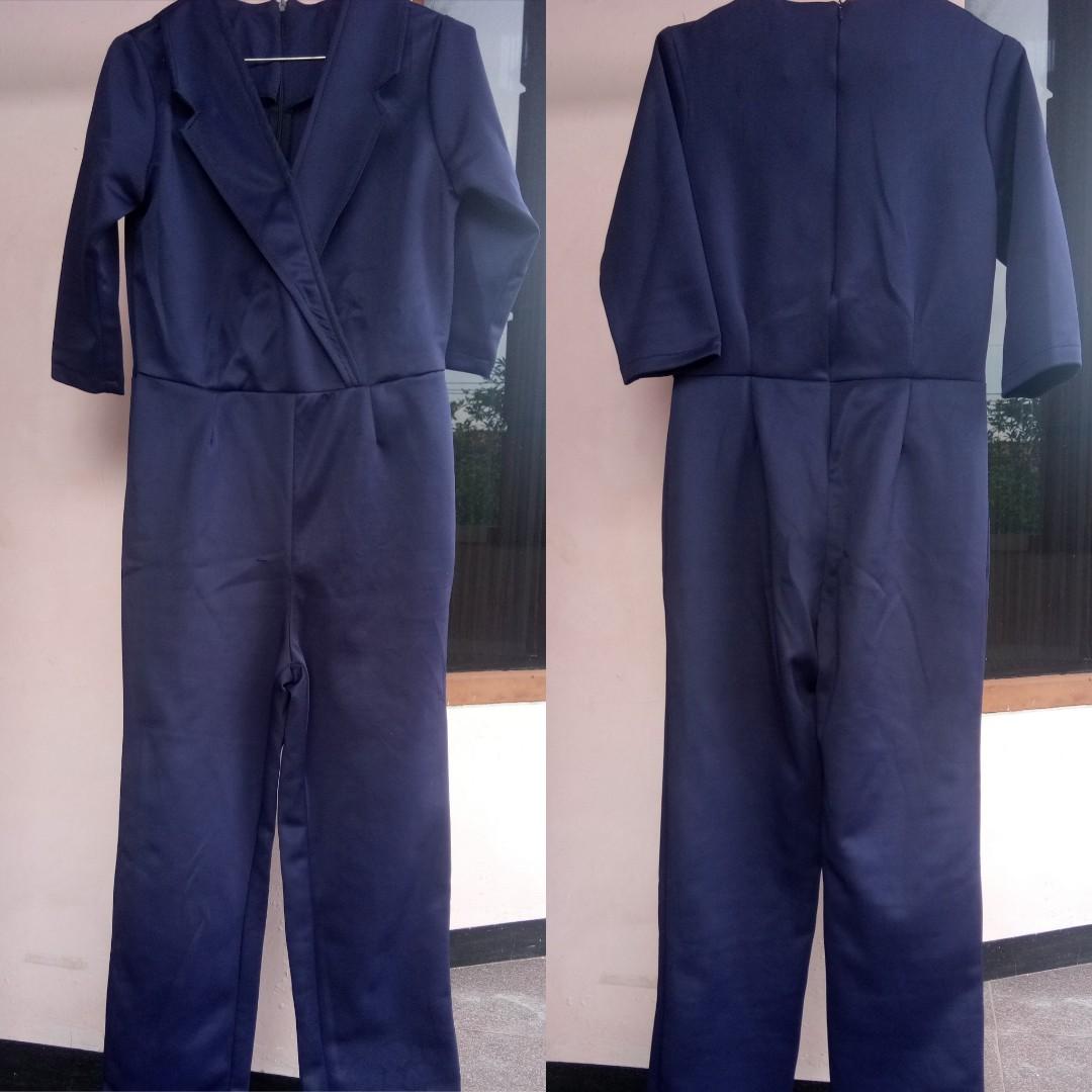 Long jumpsuit navy