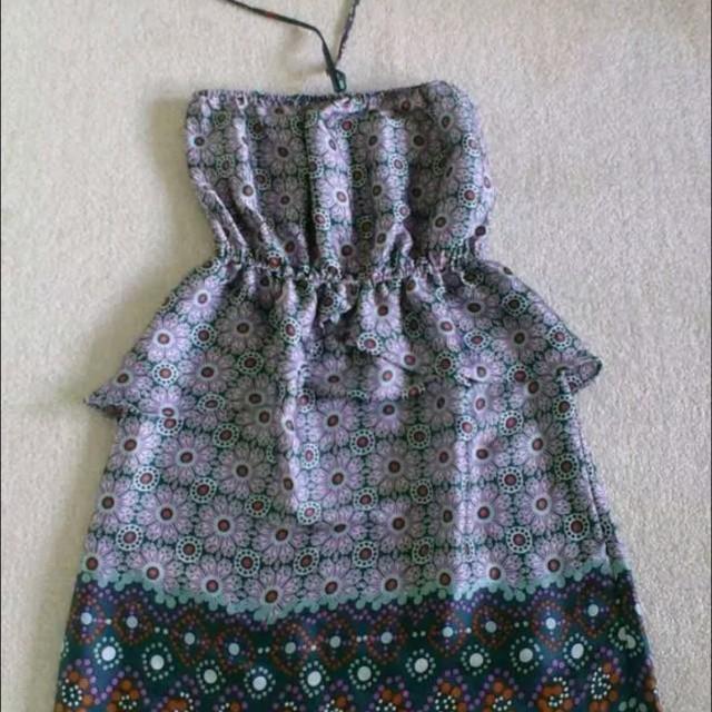 MANGO Halter Dress Sz S-M