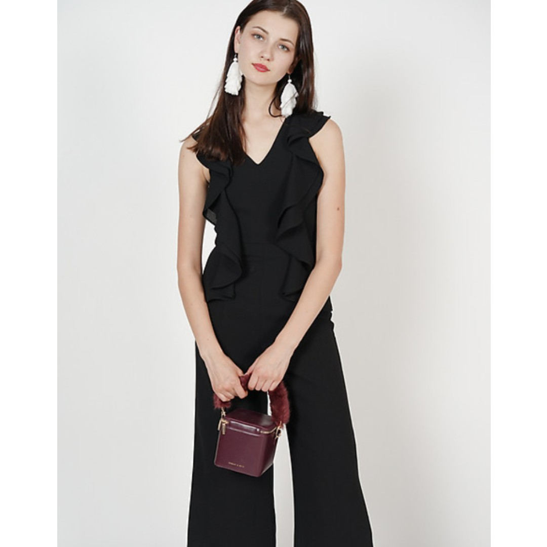 64160c980c04 MDS Frilly Jumpsuit in Black