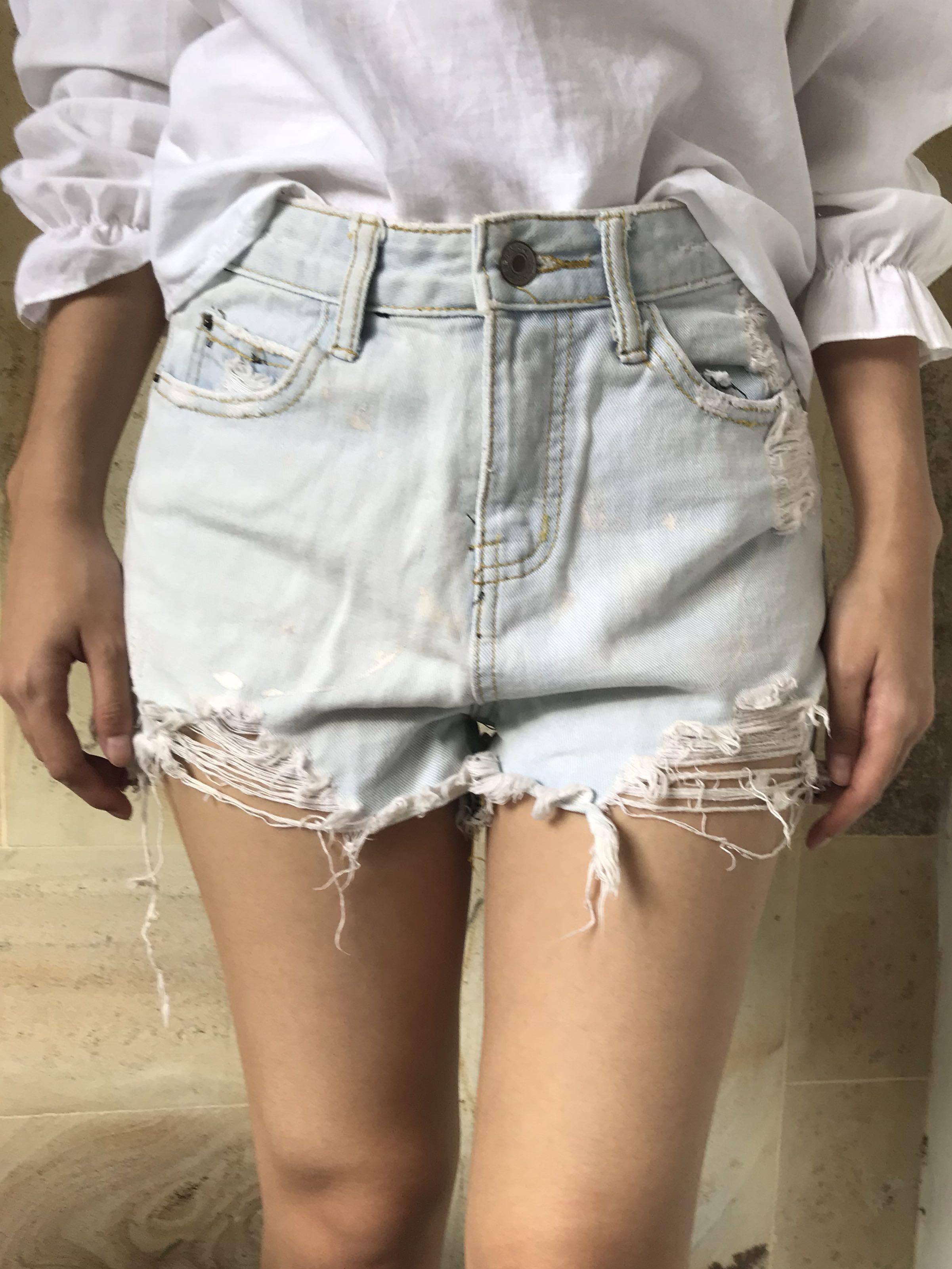 Mini Ripped Short Pants