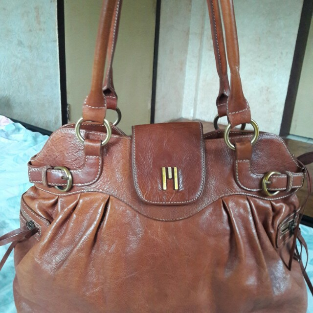 Missoni Genuine Leather Brown Tote Bag