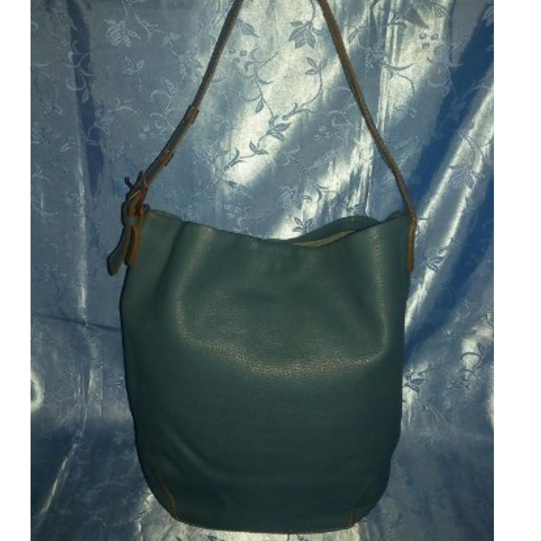 Missy's RABEANCO Bluegreen Pebbled Leather Shoulder Bag