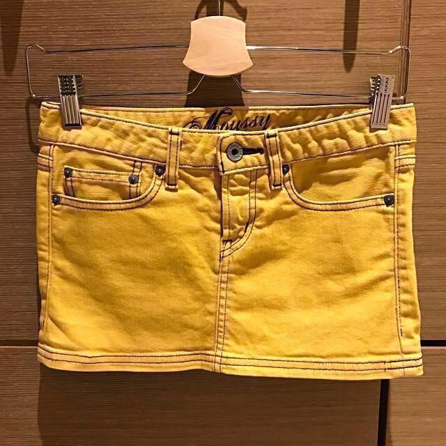 moussy 黃色牛仔短裙#超取再七折