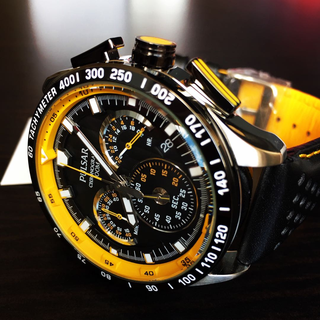 NEGOTIABLE-Brand New Pulsar World Rally Championships Chronograph Watch