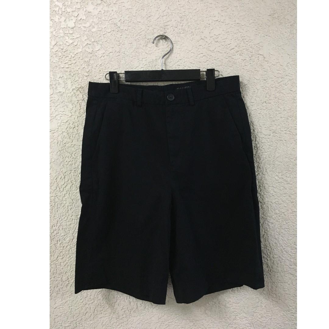 (NEW) ALLSAINTS  經典寬鬆短褲 黑色 30腰