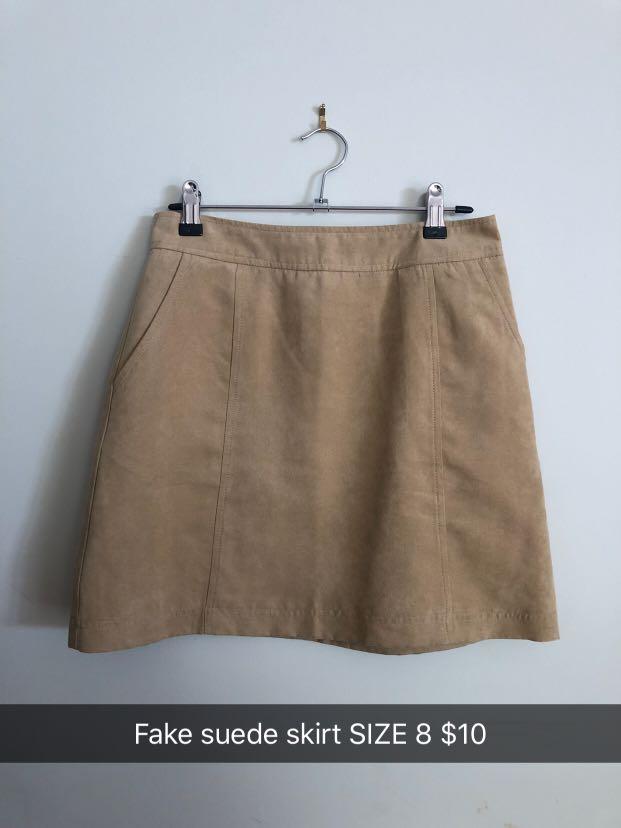 New Look Suede-Look Skirt