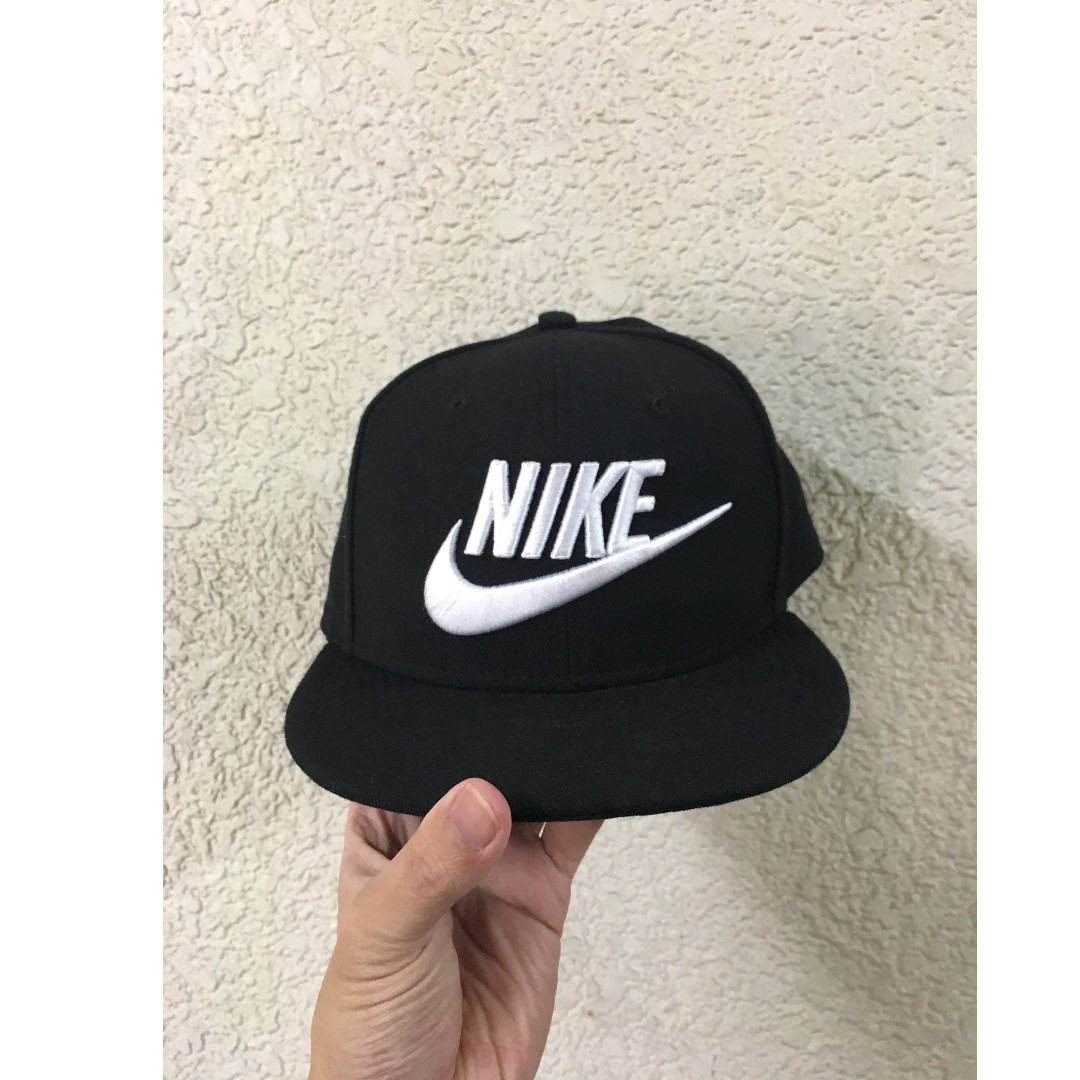 (NEW) NIKE Snapback cap中性 男女 經典LOGO款 黑色 F SIZE